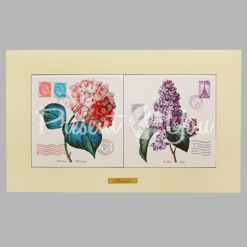 Панно настенное «Прованс. Цветы», 15х30, 38х23 см.