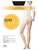 женские ультра тонкие колготки 8 ден OMSA SUN LIGHT 8