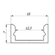 Профиль для Led ленты ЛП-7+РМ(комплект), фото 3