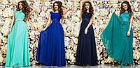 Платье вечернее длинное, ткань микро-масло, шифон, атлас, гипюр ,много расцветок фото реал Асич № 15020