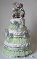 """Торт из памперсов """"Нежность!"""". Подарок новорожденному."""