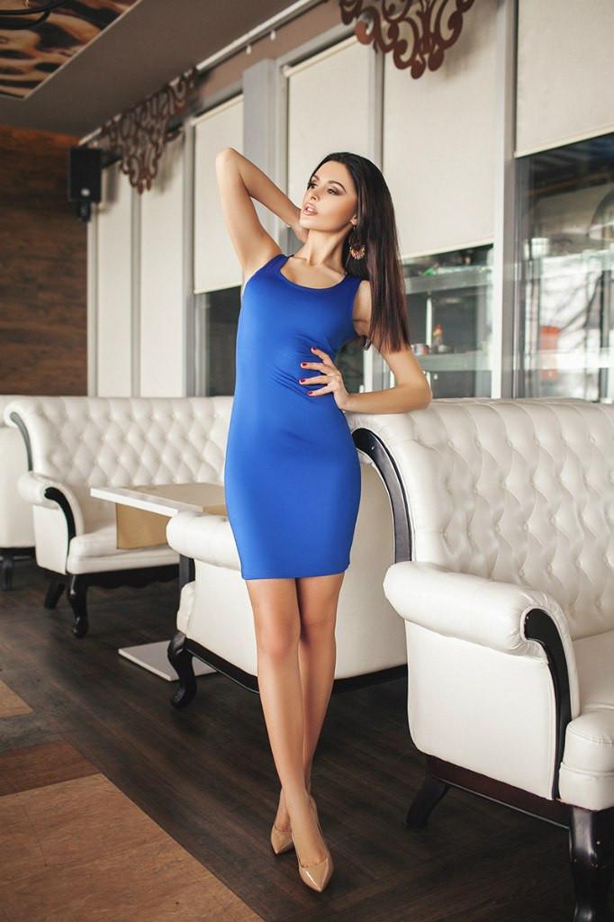 """Женское платье - майка однотонное  - Прямой поставщик модной одежды оптом и в розницу """"V-Stile"""" отправка по Украине, по миру в Одессе"""