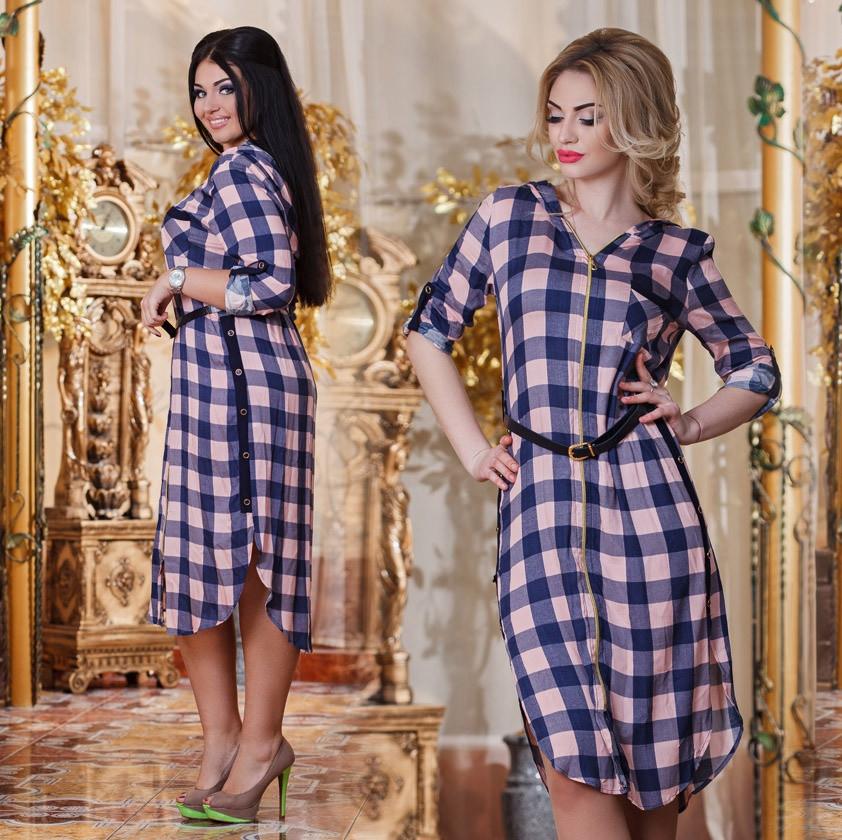 Платье на молнии- д2365 размеры 46-52