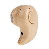 Наушник беспроводной bluetooth для экзаменов телесного цвета для девушек с длинными волосами (мод. S530)
