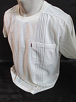 Летняя мужская футболка из льна