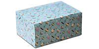 Упаковка для кусочков торта, пирожных и др. изделий, 210х150х100 мм., дизайн 10