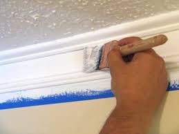 Окраска фриза потолочного