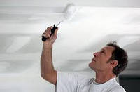 Окраска потолка в подсобных помещениях (за 2 раза)
