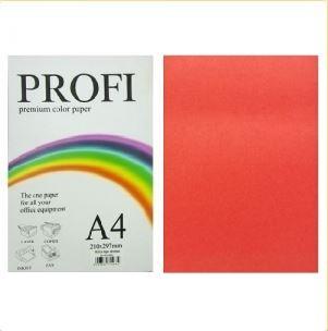 """Бумага цветная """"PROFI"""" А4. 120г  насыщ. красный RED"""