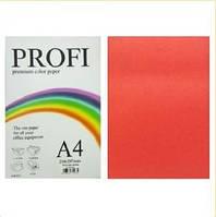 "Бумага цветная ""PROFI"" А4. 120г  насыщ. красный RED, фото 1"