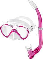 Набор Mares Seahorse (маска+трубка) (Розовый)