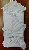 Атласный конверт одеяло для новорожденного