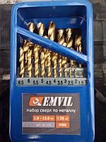 Набор сверл по металлу 25 штук hss титан от1до13мм