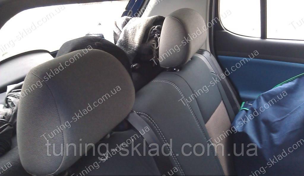 Чехлы на сиденья Шкода Фабия МК 2 (чехлы из экокожи Skoda Fabia Mk2 стиль Premium)