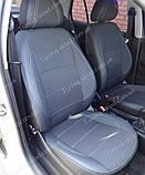 Чехлы на сиденья Шкода Фабия МК 2 (чехлы из экокожи Skoda Fabia Mk2 стиль Premium), фото 6