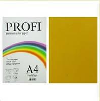 """Бумага цветная """"PROFI"""" А4. 80г  золотистый GOLD"""