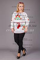 Женская вышитая туника больших размеров., фото 1