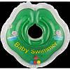 Круг для купания младенцев зеленый с погремушками  Baby swimmer 3-12кг