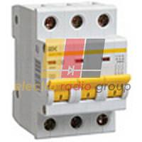 Автоматичний вимикач ВА47-29М 3Р 25А 4,5кА С IEK