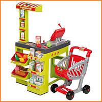 Интерактивный супермаркет с тележкой зеленый Smoby 350202
