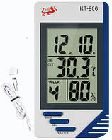 Термометр гигрометр цифровой КТ 908 с выносным датчиком, фото 1
