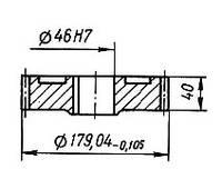 03-04-39М Колесо зубчатое КШП-3М (погрузчик Р6-КШП-6) z=43, m=4