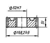 03-04-41М  Колесо зубчатое КШП-3М (погрузчик Р6-КШП-6) z=32, m=5
