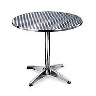 Стол алюминиевый круглый, диаметр 80