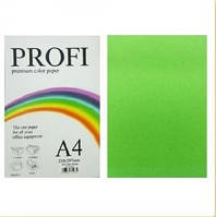 "Бумага цветная ""PROFI"" А4. 80г  насыщенный зеленый PARROT"