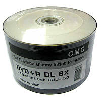Диск CMC  8,5Gb  - 8x  (bulk 50)   DVD-R Glossy Printable