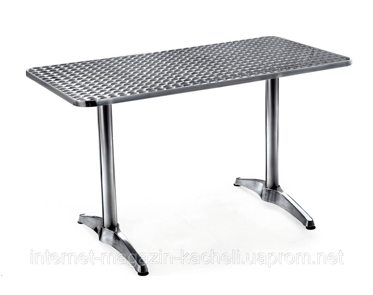 Стол алюминиевый двойной 120 х 60