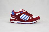 Кроссовки детские/подростковые Adidas ZX750 красные (р-р 31-36)