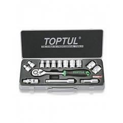 Универсальный набор инструмента TOPTUL 1/2 15ед. (12-гр.) GCAD1504