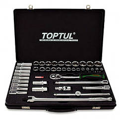 Универсальный набор инструмента комбинированный TOPTUL 1/2 (короткие+длинные головки) GCAD4102