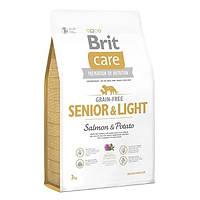 Беззерновой корм для пожилых собак Brit Care Grain-free Senior & Light Salmon & Potato, 3 кг