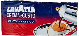 Крепкий молотый кофе Lavazza Crema e Gusto, 250г Италия, смесь робусты и арабики