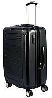 Черный 4-колесный большой чемодан из поликарбоната 98/127 л. PUCCINI PC016 8854/1