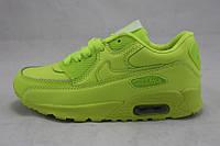 Кроссовки детские/подростковые Nike Air Max 90 салатовые (р-р 31-36)