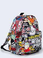 Прикольный рюкзак Sticker Bomb с креативным рисунком.