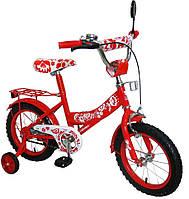 """Детский двухколесный велосипед 16"""" 151608 """"Украина"""" со звонком"""
