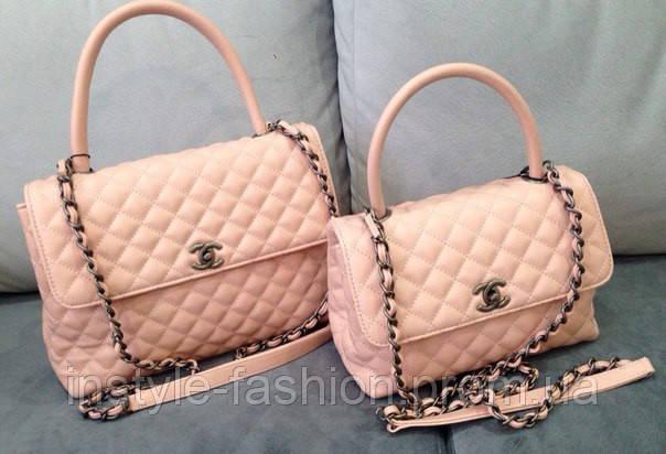 Розовые сумочки шанельки Chanel розовый кварц
