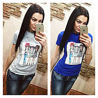 Стильная женская футболка (арт. 270027082)
