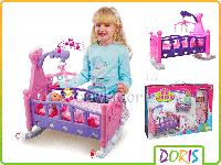 Кроватка с пупсом Doris 2 в 1 201492