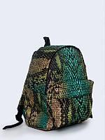 Креативный рюкзак Змеиная кожа с ярким 3D-рисунком.