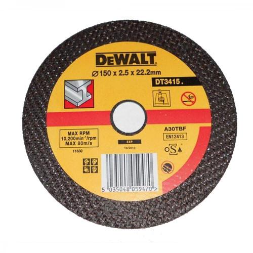 Диск отрезной по металлу DeWalt DT3415