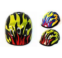 Детский защитный шлем Пламя для велосипедов, роликов, скейтов, самокатов