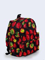 Прекрасный 3D-рюкзак Клубника с красочным принтом спелых ягод.
