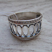 Серебряное женское кольцо с 44-мя прозрачными фианитами, фото 2