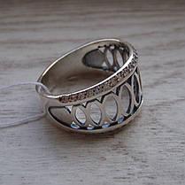 Серебряное женское кольцо с 44-мя прозрачными фианитами, фото 3