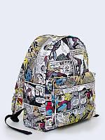 Классный рюкзак Комиксы Марвел с оригинальным рисунком.